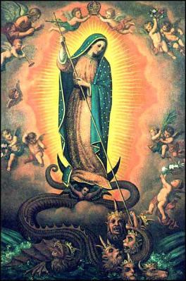 Mary stomping Satan