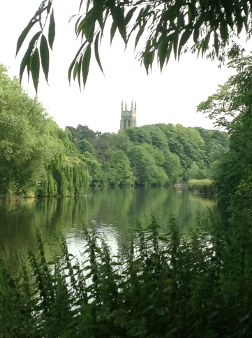 Taken from the Isle of Andressey toward the Anglican Cathedral in Burton-on-Trent