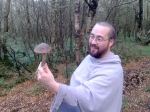 Fr. Agnellus and a very edible wild mushroom, of which we found Many
