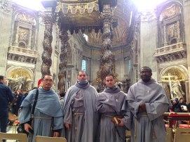 L-R: Fr. Gennaro, Fra Faustino, Fra John Girard, Fra Fiacre