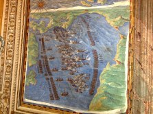 The Battle of Lepanto from the map section of the Vatican Museum