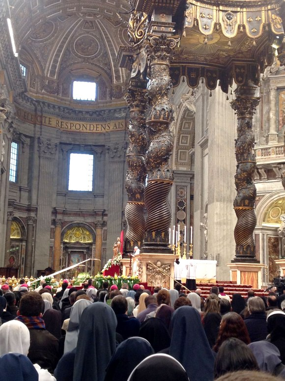 Not a great shot but gives an idea of where we were for the Mass.