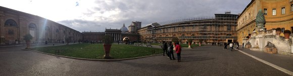 Vatican Museum with St. Peter's in background