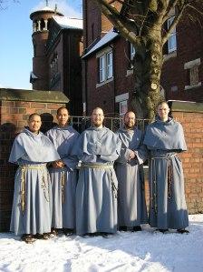 Fr. Gabriel, Fra Leonardo (his cousin), Fr. Agnellus, Fra Solanus and Fra George